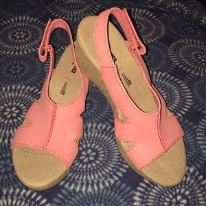 Brand New Hot Pink Clarks Annadel Bri Wedge Sandal